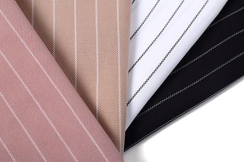 Tencel polyester wide striped skirt shirt blend fabric