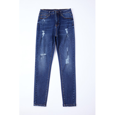 Cotton polyester spandex fabric denim indigo with stretch in stock