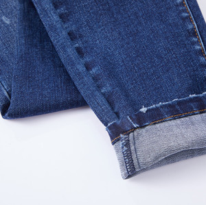 Cotton polyester spandex fabric denim indigo with stretch in stock