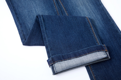 Woven cotton poly viscose spandex denim fabric for fashion jeans dress stock lot