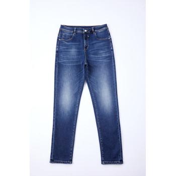 Fashion cotton poly viscose spandex denim fabric for jeans dress stock lot