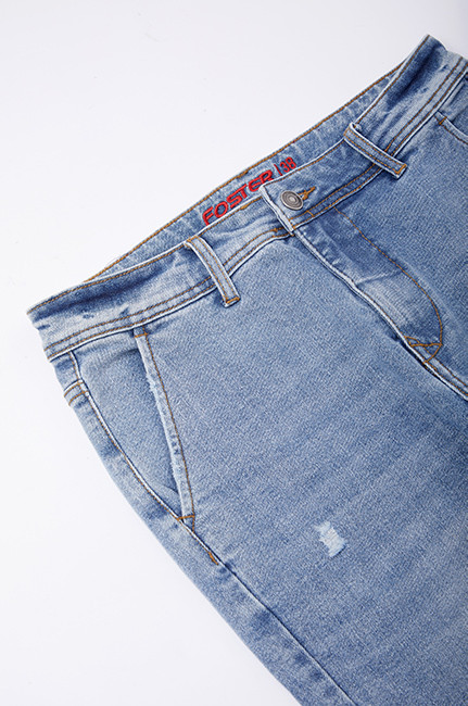 Hot sale cotton polyester breathable soft denim fabric for jeans