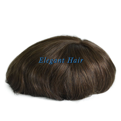 Elegant Hair swiss Lace with Super Thin Skin Hair System for Men