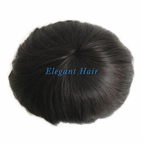 Elegant Hair Fine Mono with Thin Skin Perimeter Hairreplacement for Men