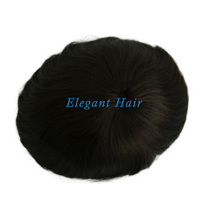 Elegant Hair swiss lace with pu at sides and back and lace front bleaching knots
