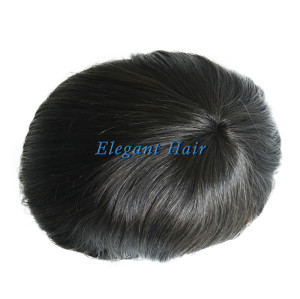 Human Hair Men's Toupee Fine Welded Mono Human Hair Replacement System