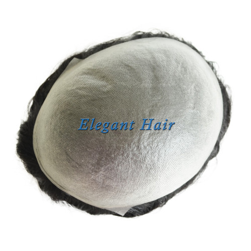 Invisible Mens Hair Replacement System Ultra Thin Skin Toupee Hairpiece