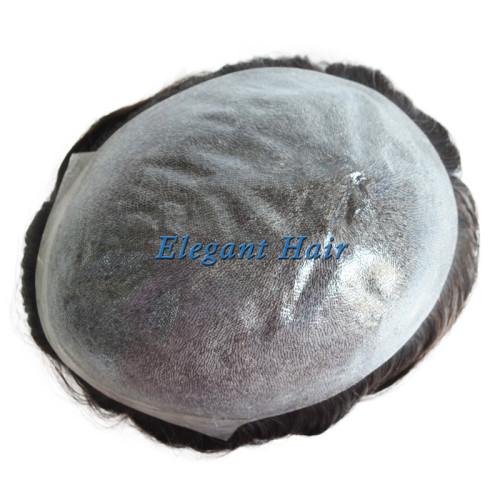 Man toupee thin skin 0.08-0.10mm injection knot toupee