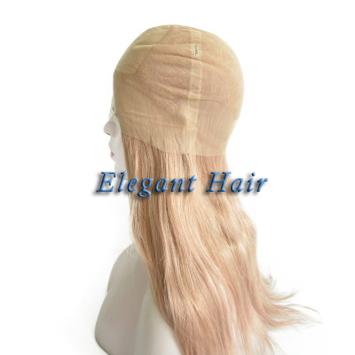 Brazilian virgin hair silk top toupee