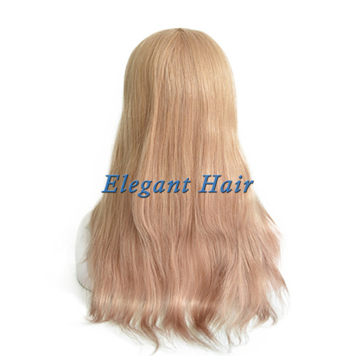 Brazilian virgin hair silk top toupee