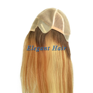 Fine mono lace human hair women wig