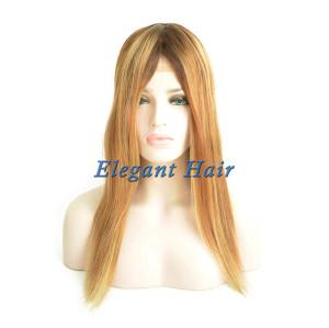 Fine mono lace human hair women wig