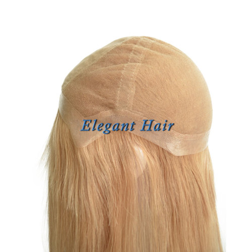 Brazilian virgin hair swiss lace wig with silk top front
