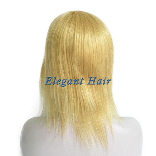 Full swiss lace human hair wig with silk top front
