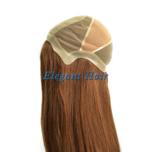 Brazilian virgin hair front silk top wig