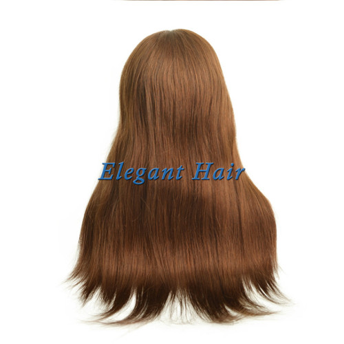 Brazilian virgin hair front silk top wig