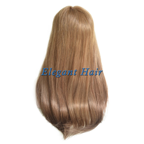 100%human hair swiss lace wig with pu skin arounded
