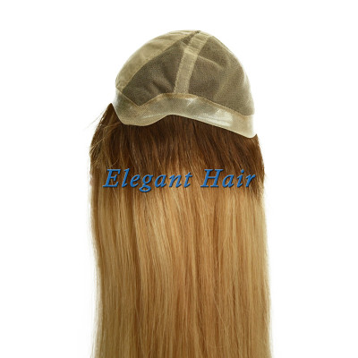 100%human hair swiss lace wig with silk top front
