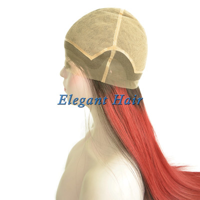 Full silk top swiss lace human hair wig
