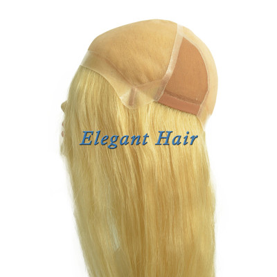 100%human hair mono lace long hair wig