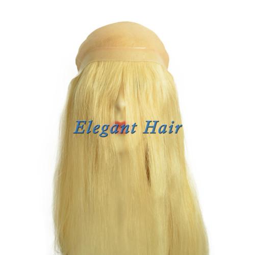 100%human hair mono lace long hair wig