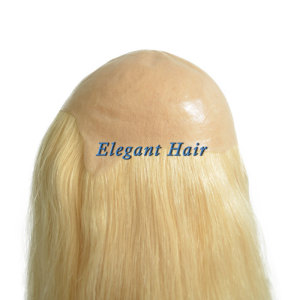 Full pu skin chinese virgin hair wig