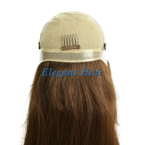 Human hair silk top lace wig
