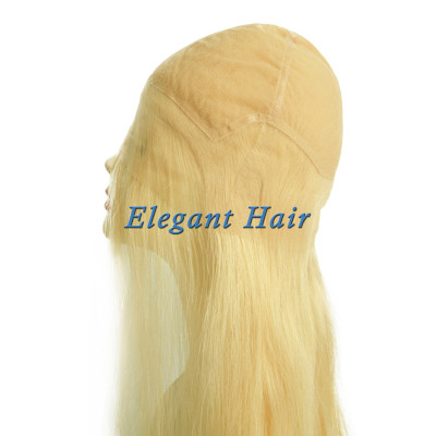 100%human hair full swiss lace silk top wig