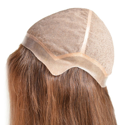 Chinese Virgin Remy Hair Silk Top Undetectable Knots Wig for Women