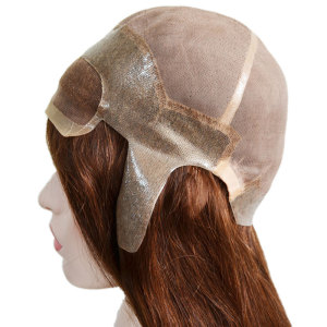 Fine welded mono base with lace front wig hairpiece