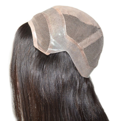 Silk top/ injected lace/ silk lace part with lace front wigs