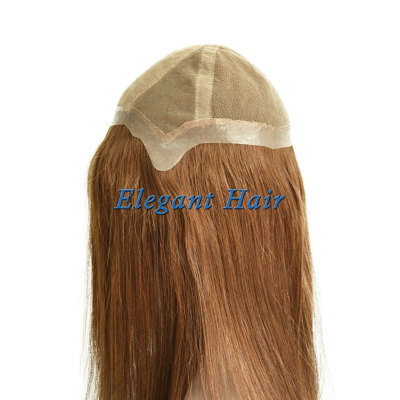 100%Human hair swiss lace silk top wig