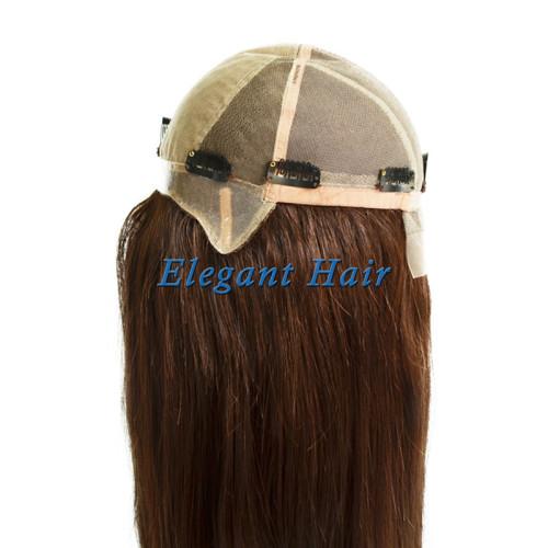 100%Human hair swiss lace silk top wig