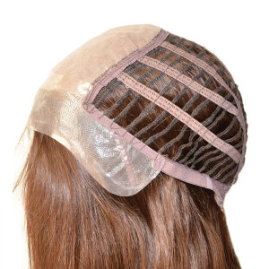 Customized Ladies Elasticated Machine-Made Weft and Invisible Knots Silk Top Wig