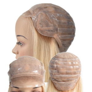 Anti-Slip Silicon Swiss Lace Human Hair Medical Wig