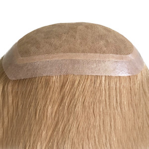 Indian Hair Silk Base Toupee for Women