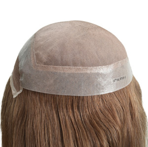 Women′s Toupee Clear PU with Lace Window and Mono Lace