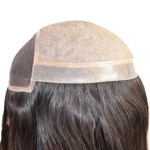 High quality Silk Top Base Bleached Knot Long Hair Women Hair Piece