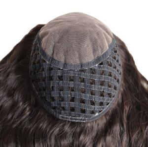 European Virgin Cuticles silk top Human Hair women toupee and toppers
