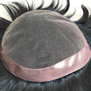 Factory wholesale price french lace human hair toupee for bald men