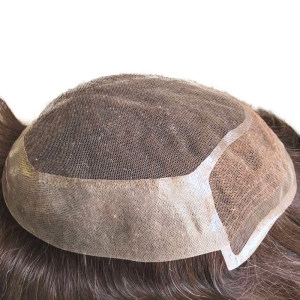 Indian Hair Wigs Swiss Lace Replacement toupees