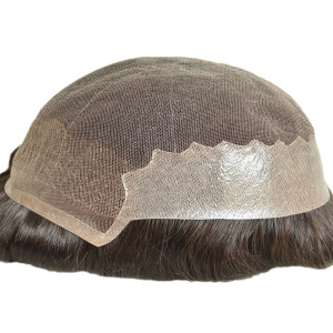 Qingdao factory custom human hair toupee 100% India human hair toupee