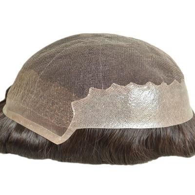 Qingdao factory custom human hair toupee 100% India human hair toupee