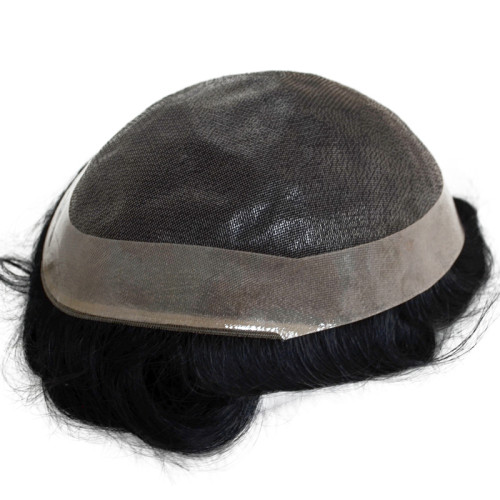 Fino mono lace with PU Durable high quality customize toupee