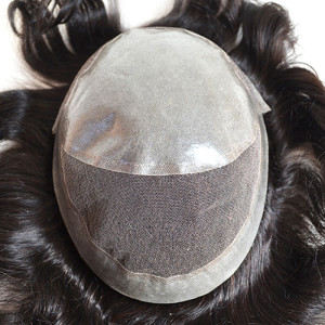 Indian human hair toupee hair patch for men full thin skin toupee