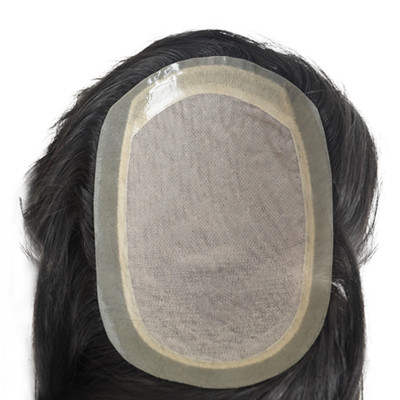 Silk Base Durable Hairpieces Men Toupee skin around Men Wig Replacement System Human Hair Toupee For Men