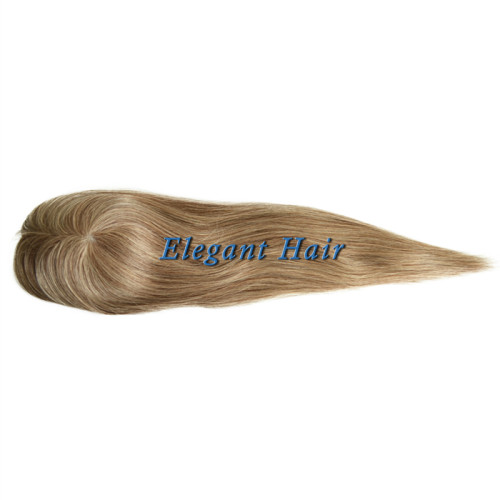 Chinese virgin hair pu skin T parting hair toupee