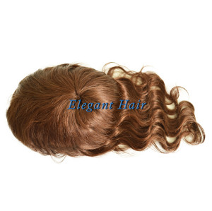 Chinese virgin hair full swiss lace women toupee