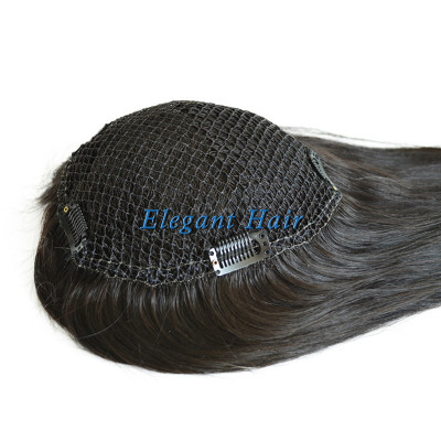 Chinese virgin hair fish net lace women toupee