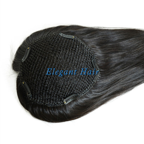 Chinese virgin hair fish net lace women toupee